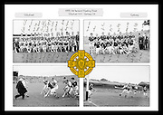 A collage of images from the 1955 All Ireland Hurling Final between Wexford and Galway, played at Croke Park on 4th September 1955.