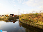 Shot taken standing on bridge on Carpenters Rd, Hackney Wick, London. Looking South.