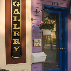 A doorway on Main Street in Bar Harbor, Maine.