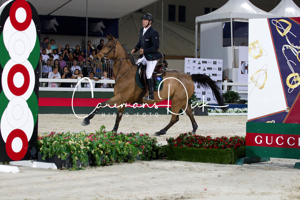 Bost Roger Yves (FRA) - Castle Forbes Myrtille Paulois<br /> Final Global Champions Tour - Abu Dhabi 2012<br /> &copy; Hippo Foto - Cindy Voss