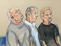 Left to right William Lincoln, Harbinson, HughDoyle<br />