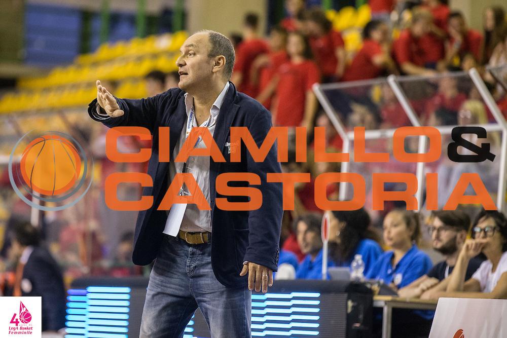 Roberto Sacchi<br /> OMC Cignoli Broni - Saces Mapei Givova Dike Napoli<br /> LegA Basket Femminile 2016/2017<br /> Lucca, 01/10/2016<br /> Foto Elio Castoria/Ciamillo-Castoria
