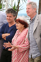 Eric Guirado, Agnes Varda, Regis Wargnier at the Jury Camera D'Or photocall at the Cannes Film Festival 17th May 2013