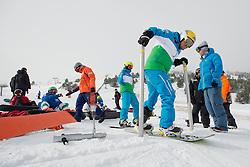 ECKHART Patrick, banked slalom training, 2015 IPC Snowboarding World Championships, La Molina, Spain