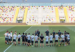 01.08.2017, Stadion HNK Rijeka, Rijeka, CRO, UEFA CL, HNK Rijeka vs FC Salzburg, Qualifikation, 3. Runde, Rückspiel, Abschlusstraining, im Bild Spielerbesprechung // Overview during a practice session of FC Salzburg prior to the UEFA Championsleague Qualifier 3nd round, 2nd leg match between HNK Rijeka and FC Salzburg at the Stadion HNK Rijeka in Rijeka, Croatia on 2017/08/01. EXPA Pictures © 2017, PhotoCredit: EXPA/ Johann Groder