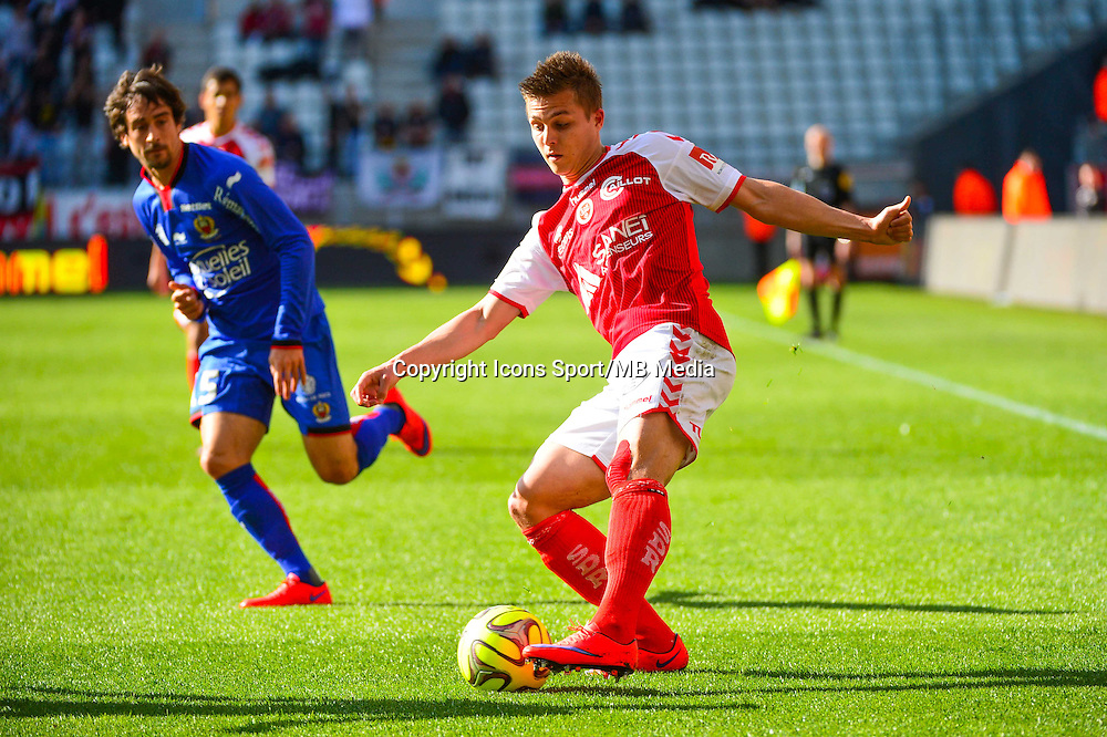 Nicolas DE PREVILLE - 12.04.2015 - Reims / Nice - 32eme journee de Ligue 1 <br />