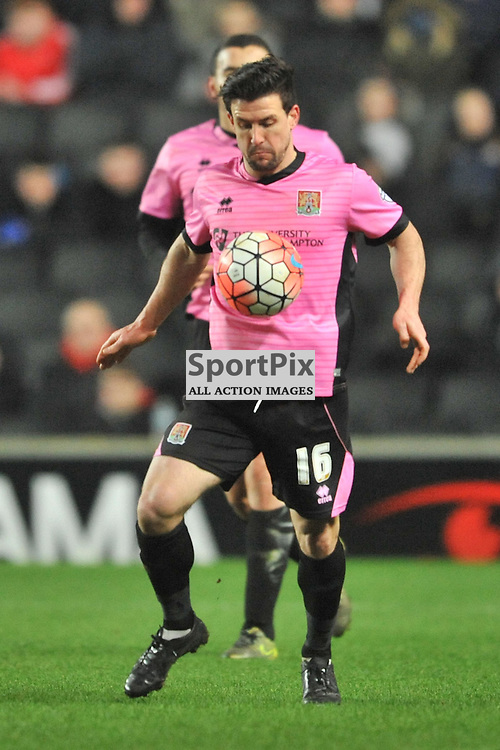 DAVID BUCHANAN NORTHAMPTON MK Dons v Northampton Town, FA Cup Emirates FA Cup Third round Repay, Stadium MK, Tuesday 19th January 2016