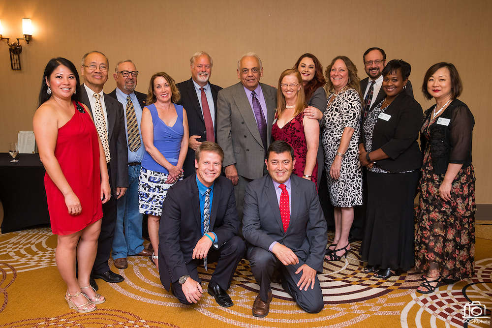 The new Board of Directors pose for a group photo during the Milpitas Chamber of Commerce 59th Annual Awards and Installation Banquet at Sheraton San Jose Hotel in Milpitas, California, on July 28, 2016. (Stan Olszewski/SOSKIphoto)