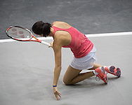 Viktorija Golubic (SUI) during the finals of the WTA Generali Ladies Linz Open at TipsArena, Linz<br /> Picture by EXPA Pictures/Focus Images Ltd 07814482222<br /> 16/10/2016<br /> *** UK &amp; IRELAND ONLY ***<br /> <br /> EXPA-REI-161016-5011.jpg