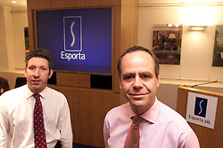 Esporta. L to R: Mark Beadle F.D, and Graham Coles, C/e , August 11, 2000..Photo by Andrew Parsons/i-Images..