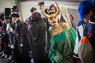 """Cosplay de """"Lady Loki"""" en la Convencion Avalancha de Venezuela que reune a otakus, cosplayers, fanaticos de la ciencia ficcion, comics, anime, mangas y juegos. Caracas, del 9 al 18 de agosto de 2013. (Foto / ivan Gonzalez)"""