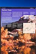 Interpretive sign at the trailhead to Barker Dam, Joshua Tree National Park, California