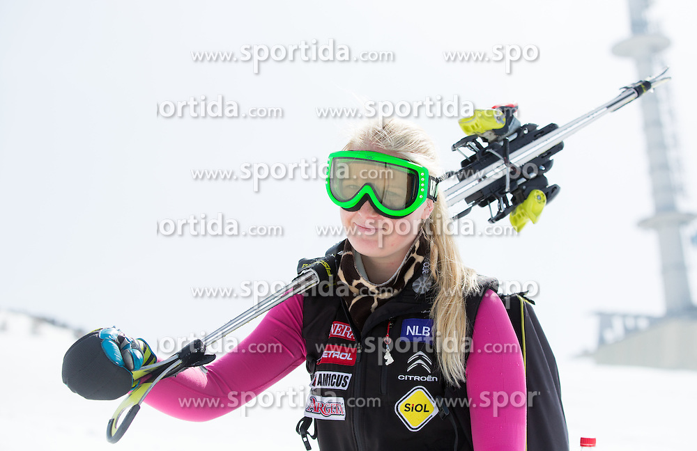 Nina Katarina Kermavner of Slovenia after the Women's Super Combined Slovenian National Championship 2014, on April 1, 2014 in Krvavec, Slovenia. Photo by Vid Ponikvar / Sportida
