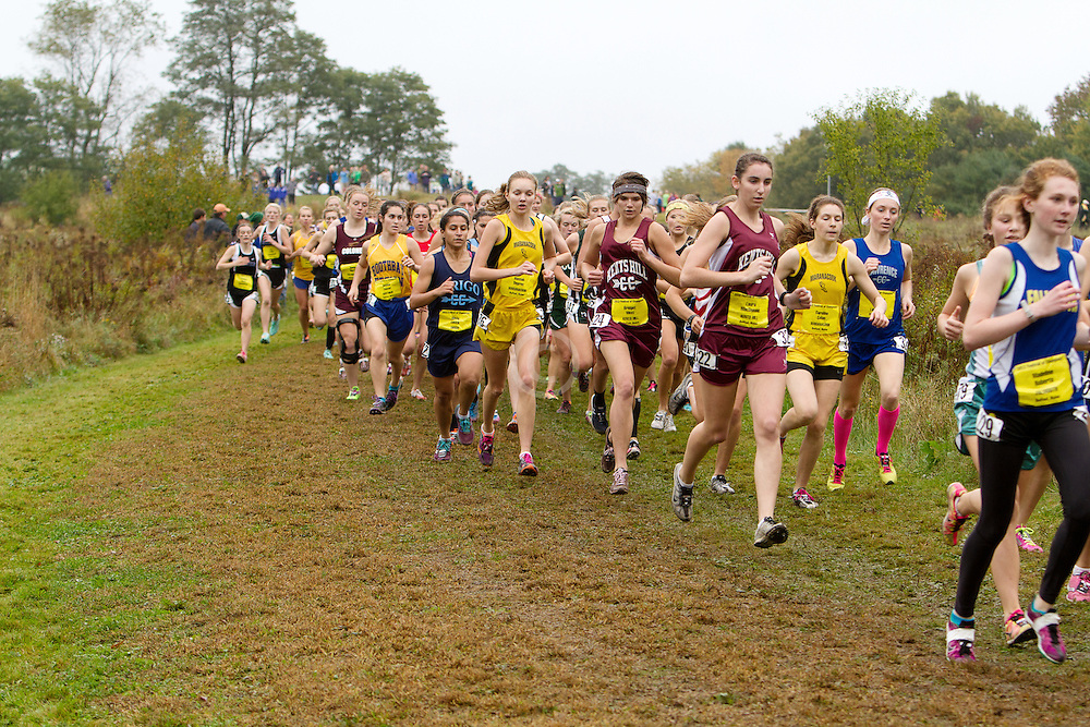 Festival of Champions High School Cross Country meet, girls seeded race, start,