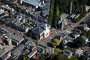 Nederland, Drenthe, Assen, 08-09-2009; centrum van de stad, omgeving Jozefkerk (Nederlands Hervormd), voorbeeld van Waterstaatskerk (neoclassicistisch stijl).City centre.luchtfoto (toeslag); aerial photo (additional fee required); .foto Siebe Swart / photo Siebe Swart