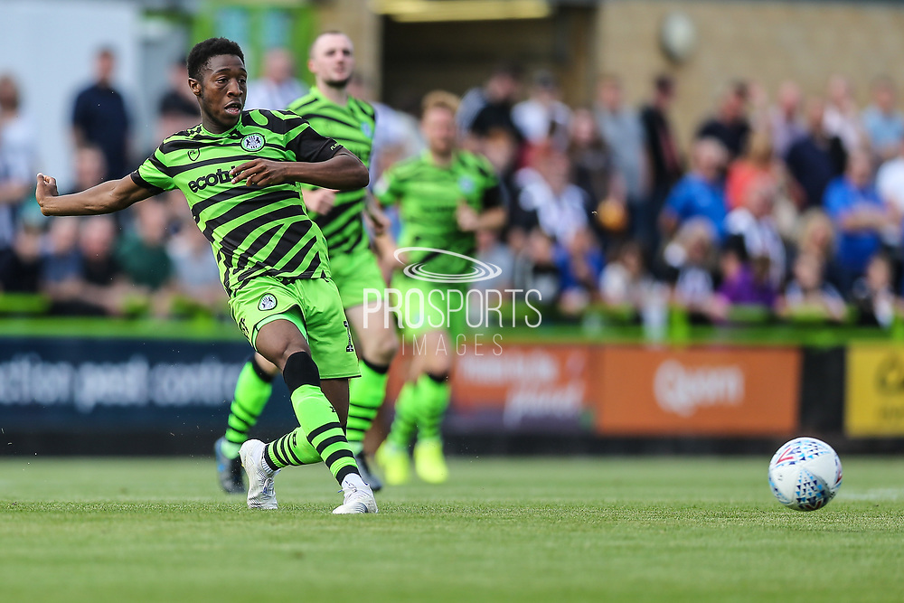 Forest Green Rovers Ebou Adams(14) passes the ball forward during the EFL Sky Bet League 2 match between Forest Green Rovers and Grimsby Town FC at the New Lawn, Forest Green, United Kingdom on 17 August 2019.