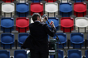 The Davis Cup (Tennis world cup) Israel Vs Slovenia Officials preparing the court