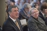 Athens, Ohio Mayor, Steve Patterson, attends the ribbon cutting ceremony for the Gladys W. and David H. Patton College of Education's newly renovated McCracken Hall held on January 27, 2017.