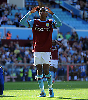 A Frustrated Ashley Young after near miss<br /> Aston Villa 2009/10<br /> Aston Villa V Wigan Athletic (0-2) 15/08/09<br /> The Premier League<br /> Photo Robin Parker Fotosports International