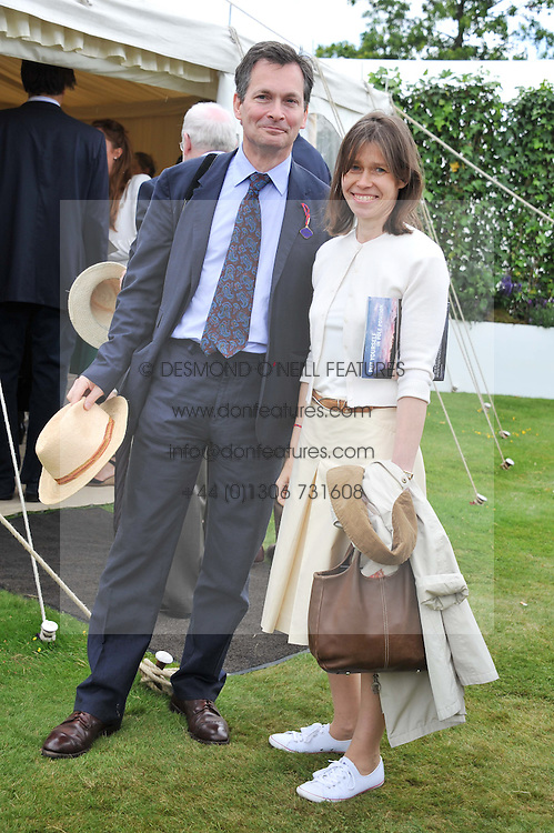 MR DANIEL & LADY SARAH CHATTO at a luncheon hosted by Cartier for their sponsorship of the Style et Luxe part of the Goodwood Festival of Speed at Goodwood House, West Sussex on 1st July 2012.
