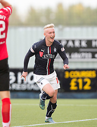 Falkirk's Craig Sibbald cele scoring their goal. half time : Falkirk 1 v 0 Dunfermline, Scottish Championship game played 15/10/2016, at The Falkirk Stadium.