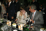Cherie Booth, Charles Rifkind, Cherie Booth, Gala champagne reception and dinner in aid of CLIC Sargent.  Grosvenor House Art and Antiques Fair.  Grosvenor House. Park Lane. London. 14 June 2006. ONE TIME USE ONLY - DO NOT ARCHIVE  © Copyright Photograph by Dafydd Jones 66 Stockwell Park Rd. London SW9 0DA Tel 020 7733 0108 www.dafjones.com