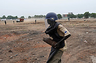 A huge number of unexploded ordinance were found scattered across a large, open terrain just opposite John Garang's tomb in Juba as the area was being prepared for South Sudan independence ceremonies. The Government of South Sudan called on Mines Advisory Group (MAG) to assist SPLA deminers in an attempt to clear the area and make it safe for the thousands of people and dignitaries who will be attending the declaration of independence on July 9th...Juba, South Sudan. 04/07/2011..Photo © J.B. Russell