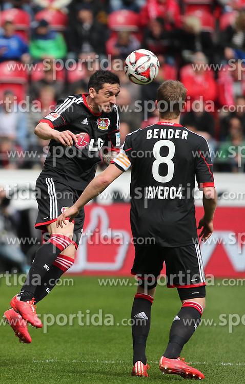 11.04.2015, Coface Arena, Mainz, GER, 1. FBL, 1. FSV Mainz 05 vs Bayer 04 Leverkusen, 28. Runde, im Bild Roberto Hilbert (Bayer) // during the German Bundesliga 28th round match between 1. FSV Mainz 05 and Bayer 04 Leverkusen at the Coface Arena in Mainz, Germany on 2015/04/11. EXPA Pictures &copy; 2015, PhotoCredit: EXPA/ Eibner-Pressefoto/ Neurohr<br /> <br /> *****ATTENTION - OUT of GER*****