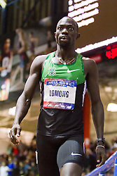 Millrose Games indoor track and field: Lopez Lomong, 5000 meters, winner,