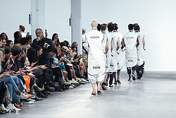 June 8, 2019 - United Kingdom - Models present a new Spring/Summer 2020 MUNN collection during London Fashion Weak Men's in the old Truman's Brewery show space in London on the June 8, 2019. (Credit Image: © Dominika Zarzycka/NurPhoto via ZUMA Press)