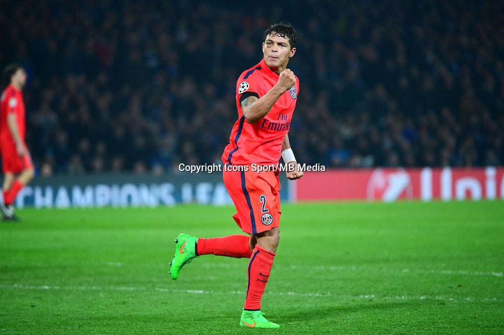 Joie Thiago SILVA - 11.03.2015 - Chelsea / Paris Saint Germain - 1/8Finale retour Champions League<br /> Photo : Dave Winter / Icon Sport
