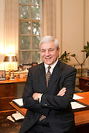 STATE COLLEGE, PA - OCTOBER 28:  In this file photo, Penn State President Graham Spanier is photographed October 28, 2009 in State College, Pennsylvania. Spanier was fired by the Penn State Board of Trustees November 8, 2011 along with Head football coach Joe Paterno after an alledged sex abuse scandal at the school. (Photo by William Thomas Cain/cainimages.com