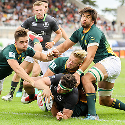 Caelan Doris of Ireland scores a try during the U20 World Championship match between Ireland and South Africa on June 3, 2018 in Narbonne, France. (Photo by Manuel Blondeau/Icon Sport)