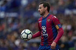 March 4, 2018 - Valencia, Valencia, Spain - Pedro Lopez of Levante UD looks on during the La Liga match between Levante UD and RCD Espanyol at Ciutat de Valencia on March 4, 2018 in Valencia, Spain  (Credit Image: © David Aliaga/NurPhoto via ZUMA Press)