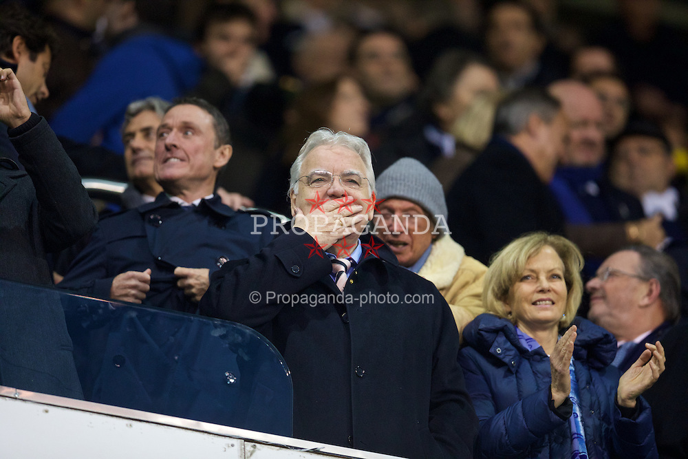 LONDON, ENGLAND - Sunday, November 30, 2014: Everton's chairman and owner Bill Kenwright before the Premier League match against Tottenham Hotspur at White Hart Lane. (Pic by David Rawcliffe/Propaganda)