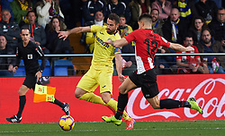 January 20, 2019 - Vila-Real, Castellon, Spain - Mario Gaspar of Villarreal and Yuri Berchiche of Athletic Club de Bilbao during the La Liga Santander match between Villarreal and Athletic Club de Bilbao at La Ceramica Stadium on Jenuary 20, 2019 in Vila-real, Spain. (Credit Image: © AFP7 via ZUMA Wire)