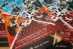 27th April 2019 , Principality Stadium , Cardiff, Wales ; Guinness pro 14's, Round 21, Dragons vs Scarlets ; Programs for todays double header of games at the Principality Stadium<br /> <br /> Credit: Craig Thomas/Replay Images