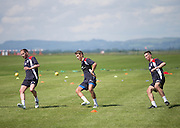 Dundee&rsquo;s Nick Ross, Danny Williams and Cammy Kerr  -  Dundee FC pre-season training at Dundee University Grounds, Riverside<br /> <br />  - &copy; David Young - www.davidyoungphoto.co.uk - email: davidyoungphoto@gmail.com