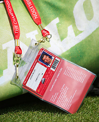 LONDON, ENGLAND - Wednesday, June 23, 2010: The players' accreditation pass of Jurgen Melzer (AUT) during the Gentlemen's Singles 2nd Round on day three of the Wimbledon Lawn Tennis Championships at the All England Lawn Tennis and Croquet Club. (Pic by David Rawcliffe/Propaganda)