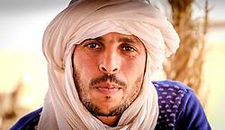 Portrait of a Berber man in the Sahara desert, southern Morocco, North Africa<br /> <br /> (c) Andrew Wilson | Edinburgh Elite media