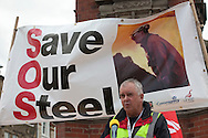 UCATT speaking at Corus Save Our Steel March Redcar..© Martin Jenkinson, tel 0114 258 6808 mobile 07831 189363 email martin@pressphotos.co.uk. Copyright Designs & Patents Act 1988, moral rights asserted credit required. No part of this photo to be stored, reproduced, manipulated or transmitted to third parties by any means without prior written permission