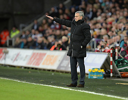 Chelsea Manager, Jose Mourinho gives his players directions.  - Photo mandatory by-line: Alex James/JMP - Mobile: 07966 386802 - 17/01/2015 - SPORT - football - Swansea - Liberty Stadium  - Swansea  v Chelsea  -