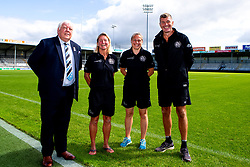 Exeter Chiefs host a Press Conference with Tony Rowe OBE, Rob Baxter, Susie Appleby and Amy Garnett to announce a new Women's rugby team - Mandatory by-line: Robbie Stephenson/JMP - 02/09/2019 - RUGBY - Sandy Park - Exeter, England - Exeter Chiefs Announce New Women's Team