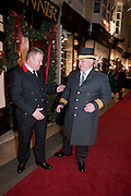 MICK O'HALLORAN; MARK LORD HEAD BEADLE, Duchess Of Cornwall Turns On The Christmas Lights At Burlington Arcade.She also met shop keepers and guests, Piccadilly. LONDON, 19 November 2009