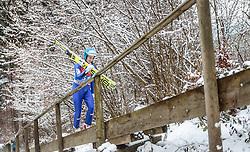 05.01.2016, Paul Ausserleitner Schanze, Bischofshofen, AUT, FIS Weltcup Ski Sprung, Vierschanzentournee, Training, im Bild Michael Hayboeck (AUT) // Michael Hayboeck of Austria before his Practice Jump for the Four Hills Tournament of FIS Ski Jumping World Cup at the Paul Ausserleitner Schanze, Bischofshofen, Austria on 2016/01/05. EXPA Pictures © 2016, PhotoCredit: EXPA/ JFK