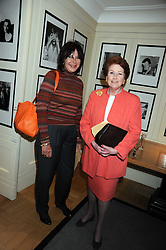 Left to right, OLIVIA CLARK and LADY ELIZABETH ANSON at a tea in aid of ASAP - African Solutions to African Problems, held at Vogue House, Hanover Square, London on 22nd October 2008.