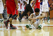 Tory Everett (3) of Richardson Berkner reacts after losing to Fort Bend Travis during the UIL Conference 5A semifinals at the Frank Erwin Center in Austin on Friday, March 8, 2013. (Cooper Neill/The Dallas Morning News)