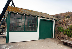 Shed near the dock landing, Anacapa Island, Channel Islands National Park, California, United States of America