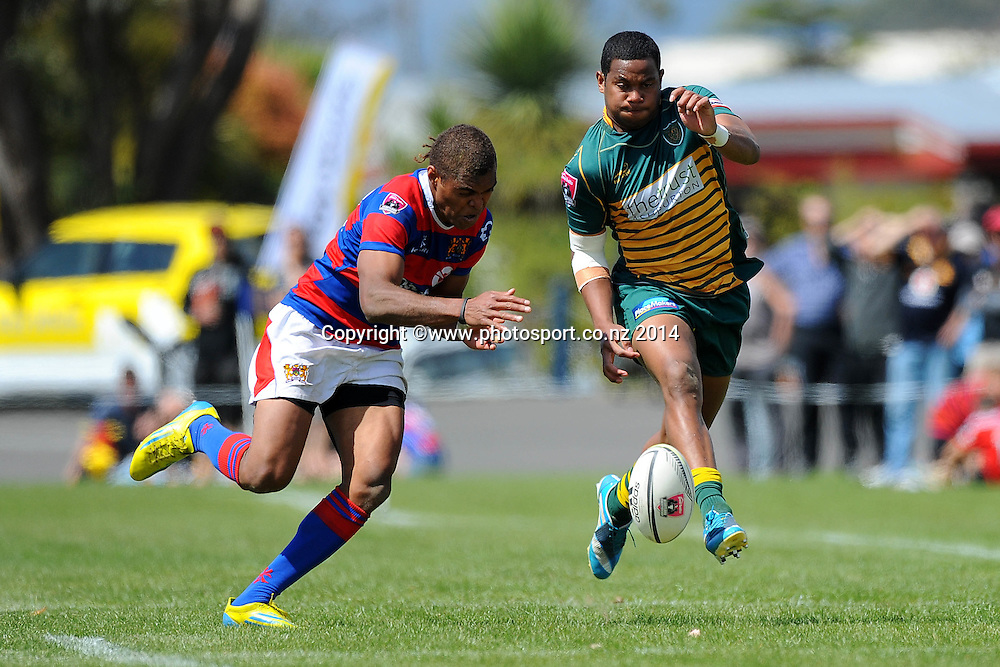 Mid-Canterbury player Seta Koroitamna during the Heartland Championship Meads Cup Final - Buller v Mid Canterbury. Victoria Square, Westport, New Zealand. Saturday 25 October 2014. Photo: Chris Symes/www.photosport.co.nz