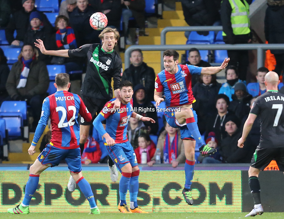 30.01.2016. Selhurst Park, London, England. Emirates FA Cup 4th Round. Crystal Palace versus Stoke. Peter Crouch